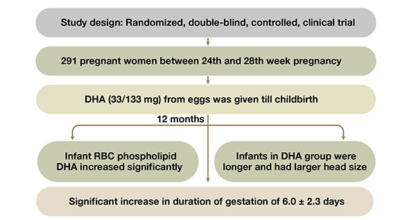 DHA increases duration of gestation
